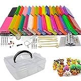 Huanup Arcilla Polimerica, 32 Colores Set Arcilla Polimérica con Polymer Clay Tools, Caja de Almacenamiento y Libro de Instrucciones