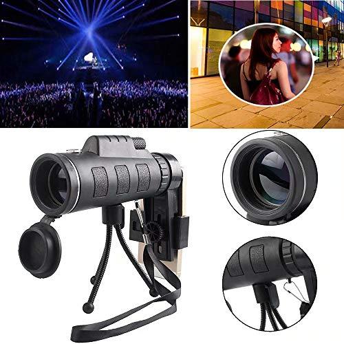 2020 - Telescopio monocular HD para smartphone con soporte para smartphone (40 x 60 cm)