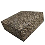 BXI - Anti Vibration Isolation Pads - Composed of Rubber & Cork - Thick & Heavy - Excellent at Low Frequencies, Great Acoustic Isolation for Speakers, Washers, Machines, etc (6'' X 6'' X 2'', 2 Pack)