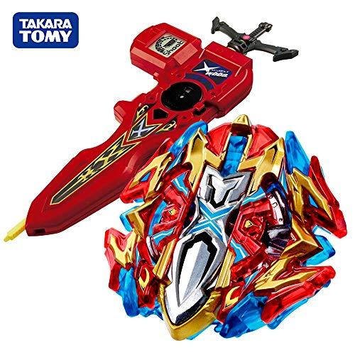 Beyblade Takara Tomy Burst Starter B-120 Buster Xcalibur 1'.Sw Set con B-94 Bey Lanzador de Espadas Digital Rojo