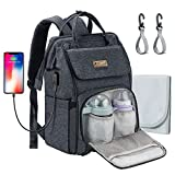 MCGMITT Baby Wickelrucksack Wickeltasche, Multifunktional Wasserdichte Babytasche mit USB-Lade Port,...