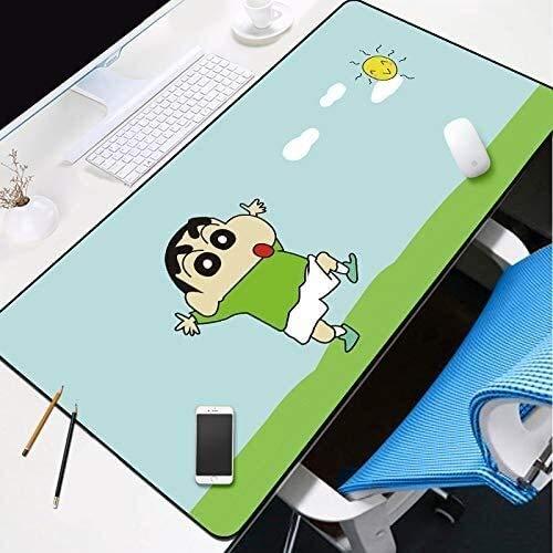 Juegos grande alfombrilla de ratón linda de Shin-chan teclado extendido tapete de ratones Juego Mousepad for Ministerio del Interior antideslizante de la PC de escritorio Tabla alfombrilla de ratón