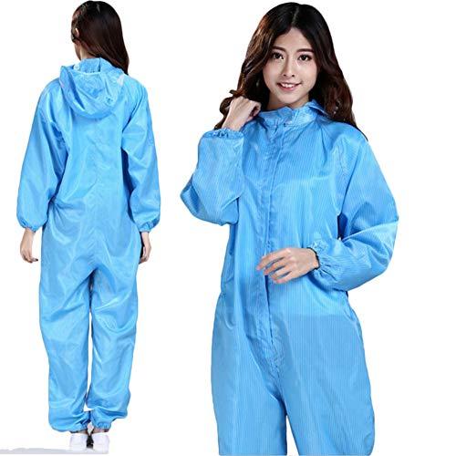 L-SLWI Indumenti di Protezione Anti-Statica Abbigliamento Siamese Abbigliamento Privo di Polvere con Cappuccio Tuta Abbigliamento Clean