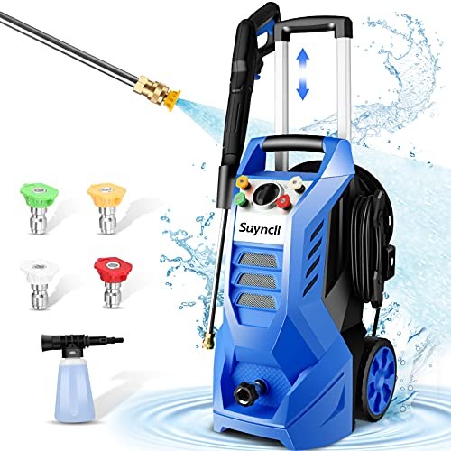 3800PSI Pressure Washer Electric Power Washer 2.6 GPM 2000W High Pressure Washer with 4 Nozzles Best for Cleaning Cars,Driveways,Patios
