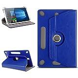 Odys Score Plus 3G Universal Tablet Tasche mit Ständerfunktion Hülle Tablet von NAmobile Schutztasche Schutzhülle Stand Tasche Etui Cover Hülle hochwertige Optik Farbauswahl 360° drehbar, Farben:Blau