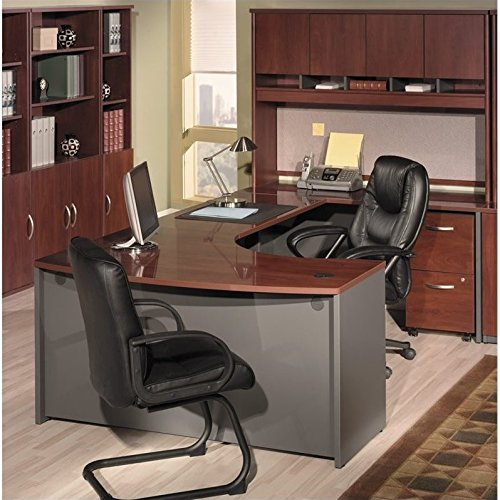 Bush Business Right-Hand Bow Front Desk