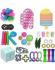 Paquete de 30 Piezas de Juguetes Fidget,Sensory Fidget Stress Relief Toys ,Juguetes antiestres,Squeeze Bean, Regalos para niños, con Autismo