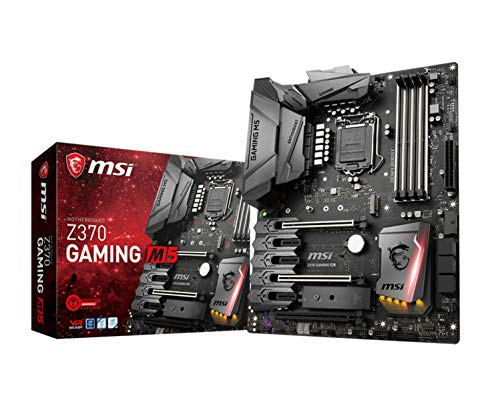 MSI Enthusiast GAMING Intel 8th Gen LGA 1151 M.2 HDMI DP USB 3.1 Gigabit LAN SLI CFX ATX Motherboard (Z370 GAMING M5)