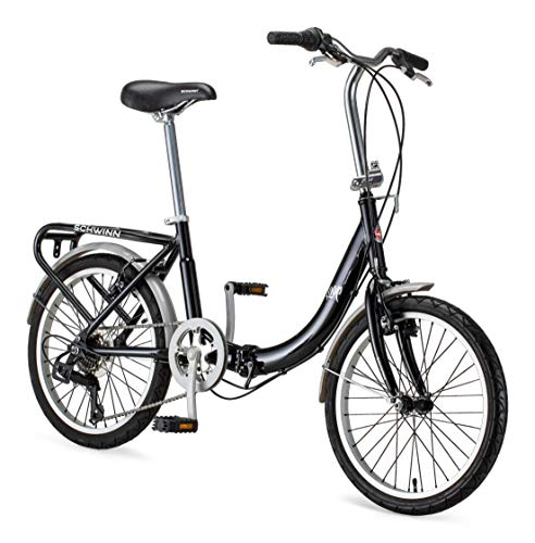 "Schwinn Loop 20"" Folding Bike Black"