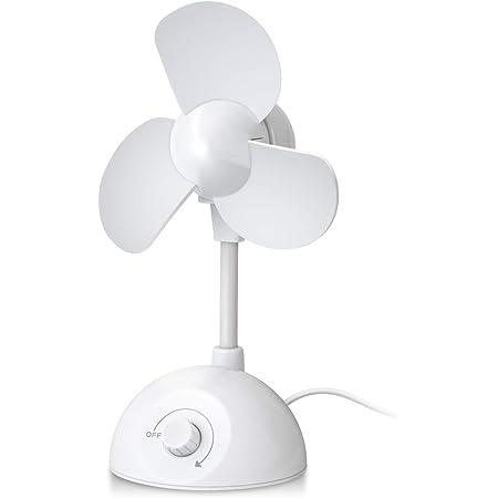 エレコム USB扇風機 卓上タイプ やわらか羽 ホワイト FAN-U201WH