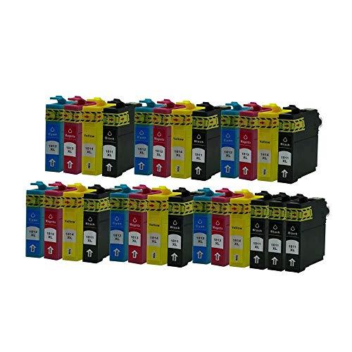 ZYL - Cartuchos de tinta de repuesto compatibles con Epson 18XL XP-415 XP-212 XP-33 XP-225 XP-322 XP-325 XP-422 XP-305 XP-402 XP-405 XP-405WH XP-312 XP-425 XP-205 XP-212 XP-30 XP-302 (6 juegos + 2 negros)