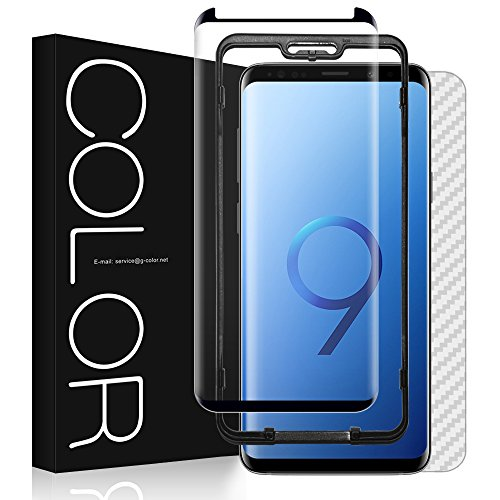 Galaxy S9 Plus Screen Protector, G-Color S9 Plus 3D Glass Case Friendly Scratch Resistance...