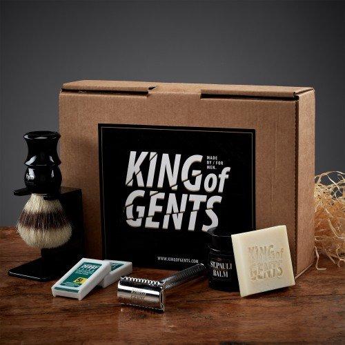 King of Gents Rasierset Hochwertiges Rasierset für eine Oldschool-Nassrasur
