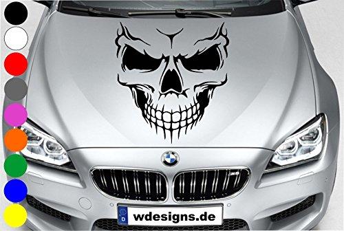 wDesigns Autoaufkleber Totenkopf Skelett Skull Aufkleber Motorhaube Angry Heckscheibe
