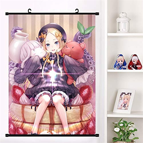 Fengdp Juego de Anime Fate/Grand Order Abigail Williams Lovely Wall Scroll Mural Poster Cartoon Wall Hanging Poster Home Decor Collection Tamaño: 20X30cm