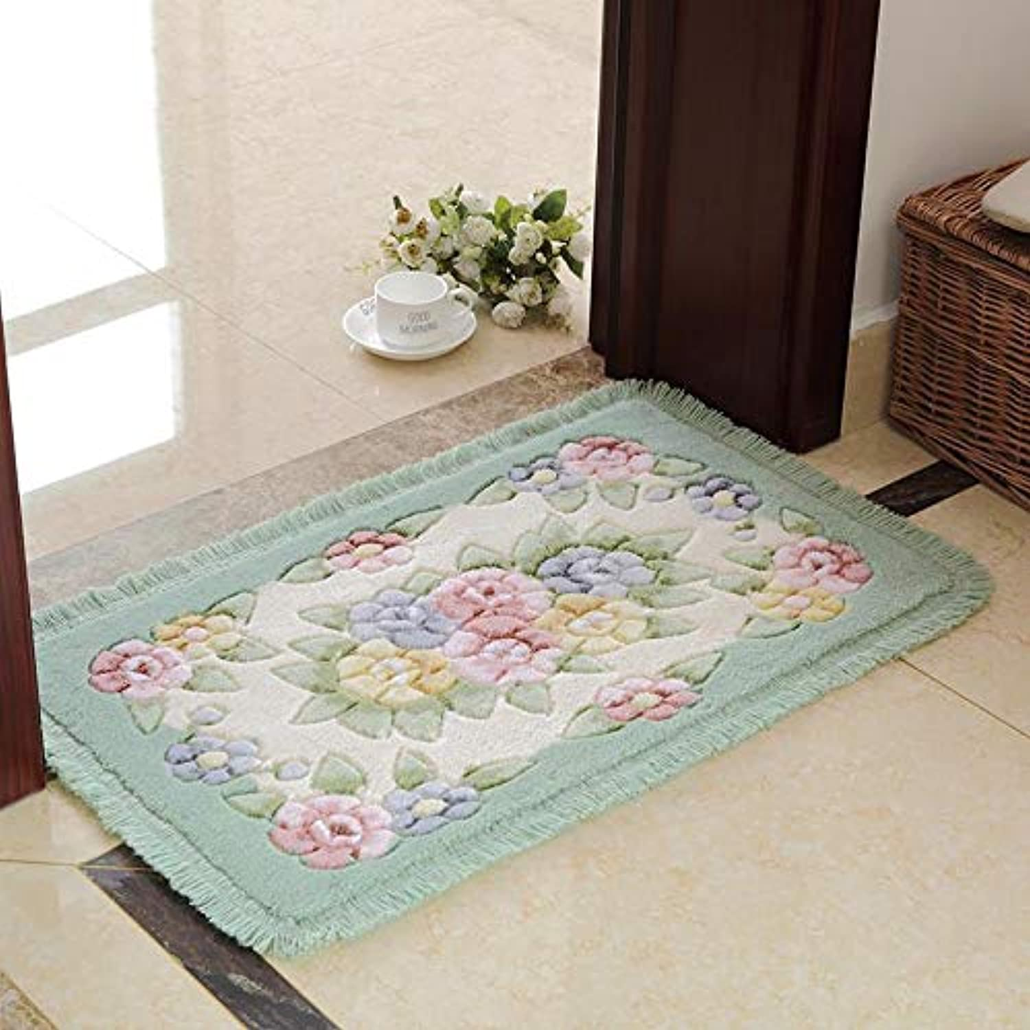 FidgetFidget Classic Bathroom Carpet Floor Mat Floral Style KitchenQianlv