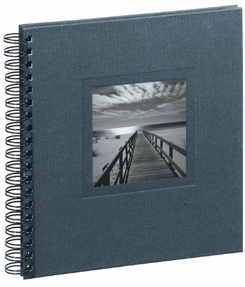 Pagna Ways/Sea 12172-10 Spiral Album 240 x 250 mm Linen Cover with Card / 50 Pages Black Mounting Paper