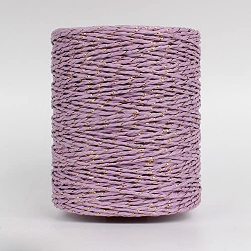 JUJING 280 m hilo de oro hilo de papel de rafia hilo para hacer punto de verano sombrero de paja bolsos cojines mano hilo de tejer