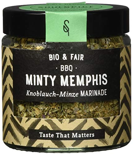SoulSpice Minty Memphis Knoblauch-Minze Marinade, 2er Pack (2 x 70 g)