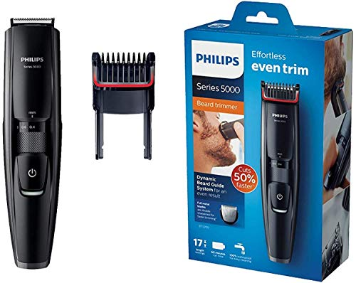 Philips BT5200/16 - Barbero Con Cuchillas Metálicas Y Peine-Guía Integrado, Color Negro
