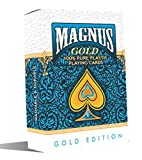 RIANZ Magnus Edition Waterproof Colorful Plastic Deck Poker Playing Card - Pack of