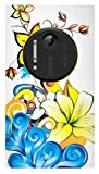 Exian Nokia Lumia 1020 TPU Case Flowers Blue and Yellow Canadian Cancer Society