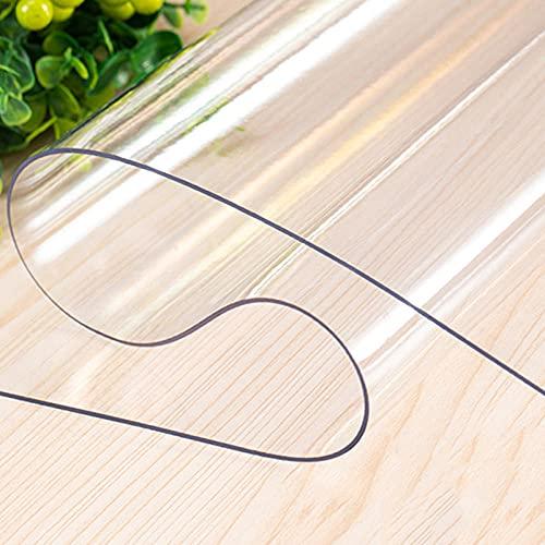 Protector De Cubierta De Mesa Transparente, Tapete De Mesa Anti-Calor, Manteles Transparentess antel Transparente de PVC Plástico Grueso Impermeable para Mesa Cocina Transparente80 CM X 80 CM