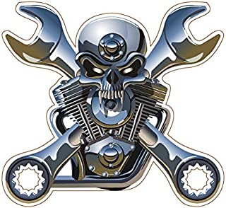 1050 METAL SKULL AND WRENCHES 4