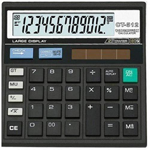 Cltllzen CT-512 Basic Black Calculator (12 Digit)