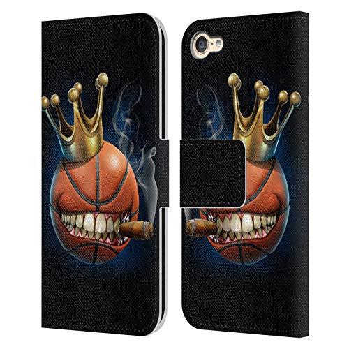 Head Case Designs Oficial Tom Wood Rey del Baloncesto Monstruos Carcasa de Cuero Tipo Libro Compatible con Apple Touch 6th Gen/Touch 7th Gen