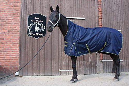 time4horses 1200Denir High Neck 300g Pferdedecke Winterdecke Paddockdecke Stalldecke Weidedecke Rug (145 cm)