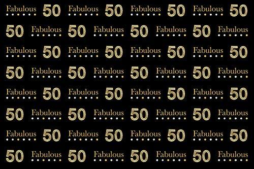Chicbanners Fabulous 50 40 30 Plaque de fond pour gâteau d'anniversaire Motif V12 1,5 x 0,9 m
