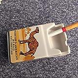 cendrier cendrier Exterieur CDFSG Personnalité Tabac Cigarette Box Cendrier Fashion Bedroom Salon Ash Tray 10 * 6 * 4cm 3