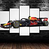 IMXBTQA Cuadro sobre Lienzo 5 Piezas Impresión En Lienzo Ancho: 150Cm, Altura: 100Cm Listo para Colgar-Fórmula 1 Carreras Hond Coche F1 En Un Marco