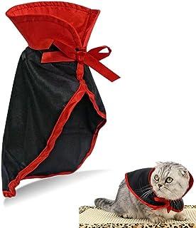 QIYADIN Pethouzz Pet Halloween Cloak Cosplay Vampire Cloak for Cat and Small Dogs,Pet Halloween Costume