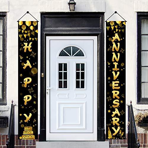 Yoaokiy Happy Anniversary Door Banner Decorations, Wedding Anniversary...