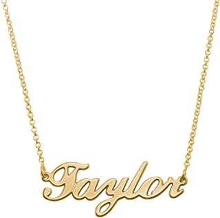 14k yellow gold name necklace