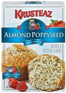 Krusteaz, Almond Poppyseed Supreme Muffin Mix, 17oz Box (Pack of 6)