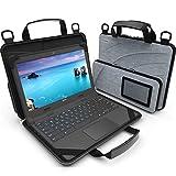 UZBL Laptoptasche für Chromebook, 27,9 - 29,5 cm (11 - 11,6 Zoll), mit Tasche & Schultergurt, Grau