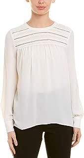 Women's Long Sleeve Pintuck Yoke Soft Texture Blouse