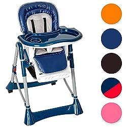 TecTake Baby-Hochstuhl, Höhe verstellbar, verschiedene Farben