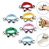 DQTYE Lot de 6 bracelets en nylon pour bébé avec sonnette de poignet et...