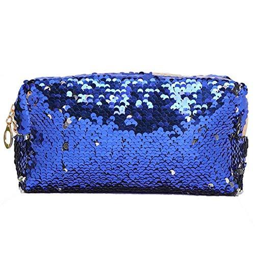 Yhhzw Doppelte Farbe Pailletten Frauen Damen Geldbörse Geldbörse Organizer Kopfhörer Tasche Clutch Bag Make-Up Tasche Kleine Tasche Größe 18.5 × 7.5 × 10.5 cm