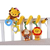 Singring Baby Pram Crib Cute Lion Design Activity Spiral Plush Toys Stroller and Travel Activity Toy by Singring