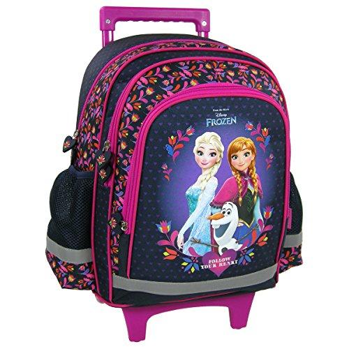 Frozen La Regina delle Nevi Borsa a Rotelle Trolley a zaino cartella scuola Disney ANNA ELSA E Olaf