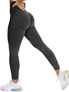 Bodybay Women Seamless Yoga Leggings Ruched Push Up Workout Butt Lift Pants Tummy Control Leggings Sport Gym Tights