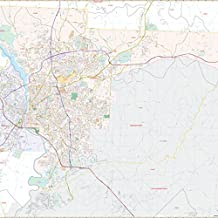 Columbus, GA & Phenix City, AL Wall Map