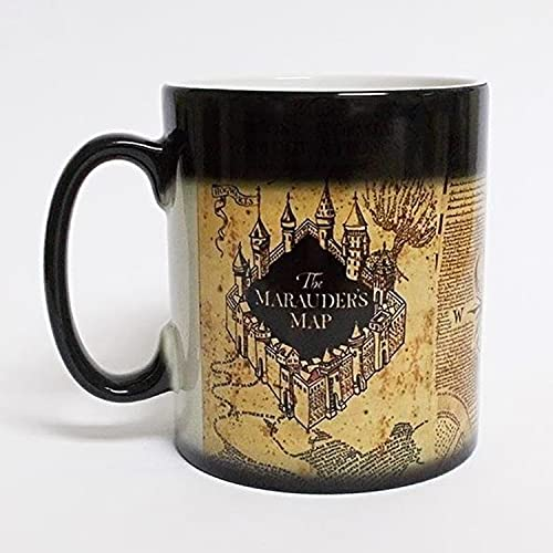 Mapa del Asistente de la Serie de Harry Potter Taza Que Cambia de Color, Taza de decoloración de Warcraft, Cerveza Personalizada Whisky Cobeblet
