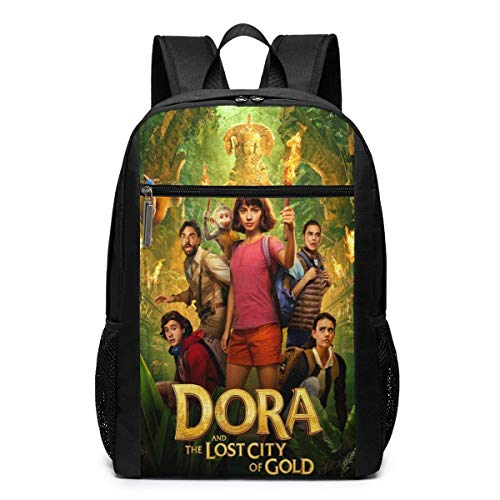 DO-R-A and The Lost City of Gold Backpack for Bookbag Children Daypacks College Travel Backpack Schoolbag 17 Inch