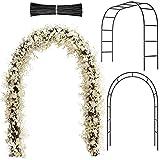 Arco de Jardín de Metal Arco de Boda Arco de Cenador de Jardín con Alambres de Hierro para Interiores Exteriores Fiesta de Boda Patio Enrejado Enredadera Decoraciones de Fiesta Nupcial